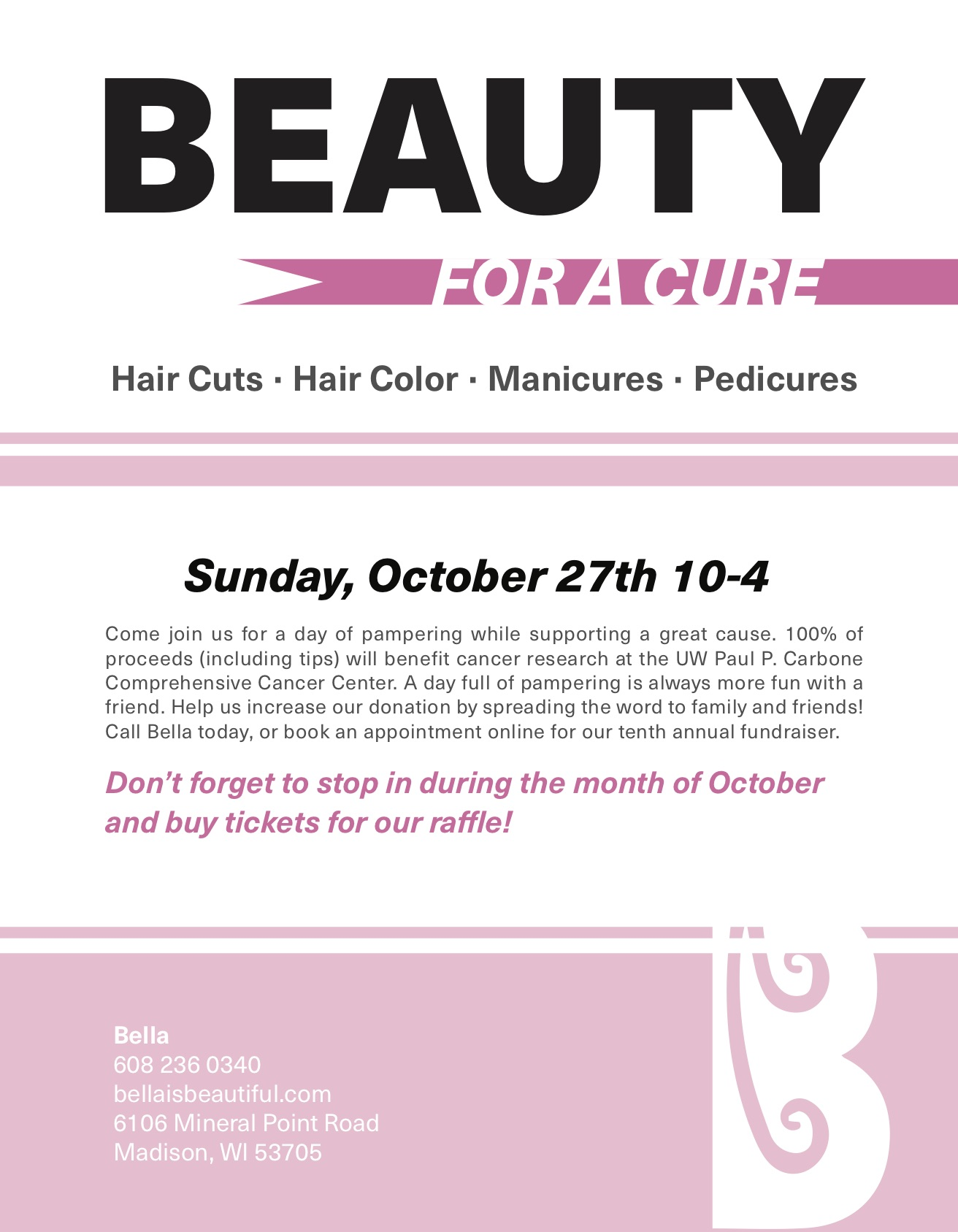 Beauty For a Cure Flyer